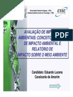 Avaliação de Impactos Ambientais - Conceitos, Estudo - UFAL