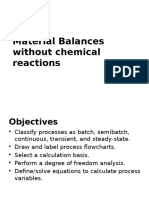 298997111 Material Balances Without Chemical Reaction