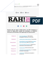 RAH! events this term