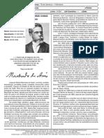 Td de Literatura - 2 Ano - Prof Maryval - Memorias Postumas de Bras Cubas - Machado de Assis