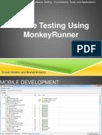 Monkey Runner Testing Mobile app