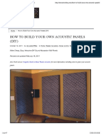 How to Build Your Own Acoustic Panels