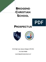 Bridgend Christian School Prospectus