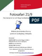 Fotosafari i Sundbyberg