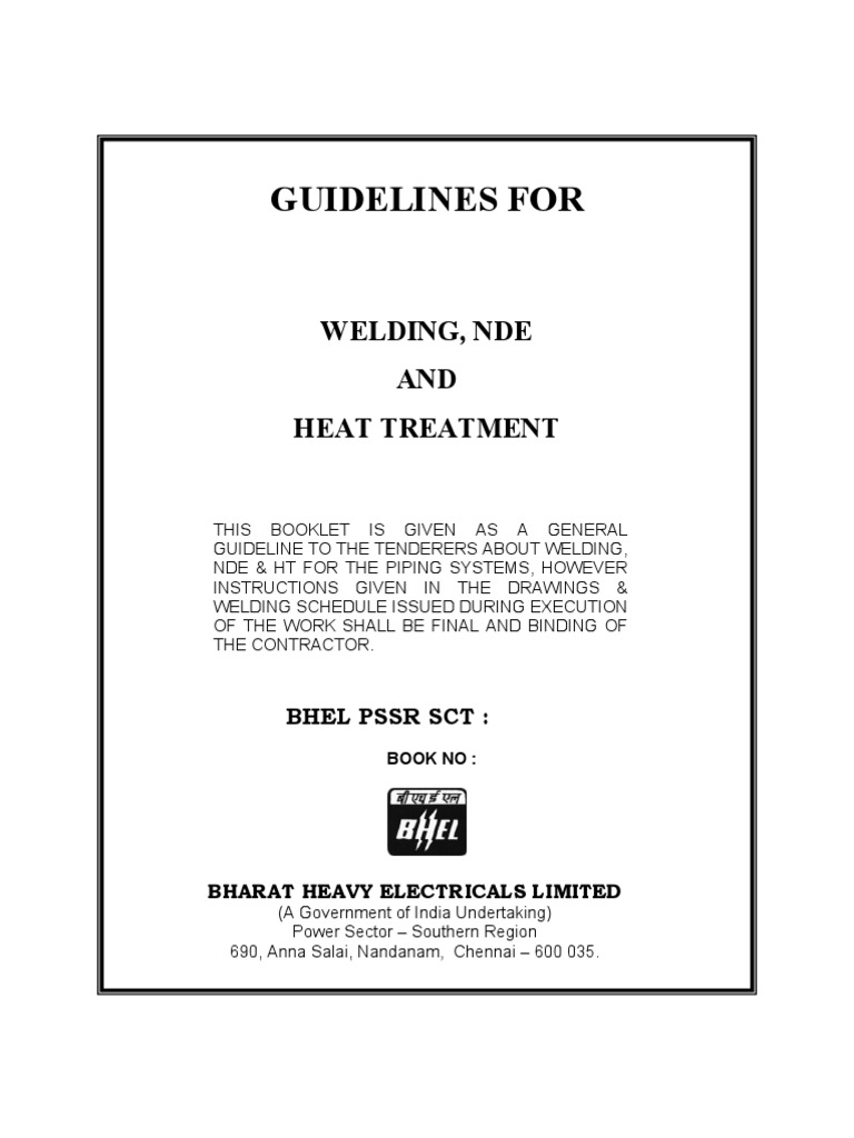 Aws 704 Series: Guidelines For Welding