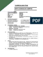 Currículum Vítae Margarita