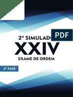 2o Simulado OAB de Bolso D Tributario 2a Fase XXIV Exame de Ordem
