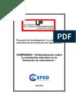 Compendio de Sistematización Sobre Orientación Educativa (Final)