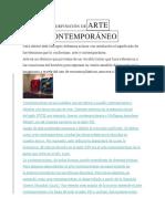 DEFINICIÓN DE ARTE CONTEMPORÁNEO