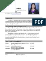 Kathlyn Joy G. Mangasi's Resume