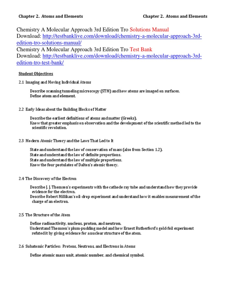 Chemistry a molecular approach 3rd edition tro solutions manual chemistry a molecular approach 3rd edition tro solutions manual mole unit chemical elements buycottarizona Images