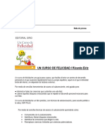 Nota de Prensa Un Curso de Felicidad de Ricardo Eiriz