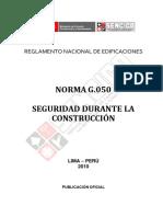 NORMA G.050     SEGURIDAD DURANTE LA CONSTRUCCIÓN