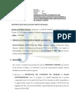 Demanda de Reposicion - Josias Azañero Rivera