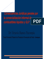 Consecuencias Juridicas Penales Por El Comercio Informal de Combustibles