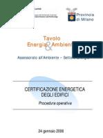 15 Certificazione Energetic A Degli Edifici (PROCEDURA OPERATIVA