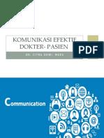 Komunikasi Efektif Dokter Pasien