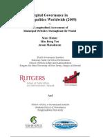 Digital Governance Municipalities Worldwide 2009