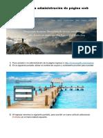 Tutorial Para Administración de Página Web