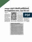 Judge Loya Death Politicised