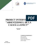 Proiect Absenteismul an Scolar 2016-2017 Final