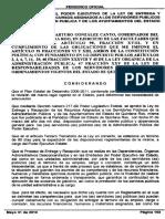 Reg Poder Ejecutivo Ley Entrega Recepcion Recursos Asignados