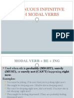 Continuous Infinitive With Modal Verbs