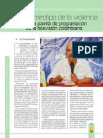 Estereotipo de La Violencia en La Parrilla de Programación de La Televisión Colombiana
