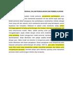 Implikasi Model Personal Dalam Pengajaran Dan Pembelajaran