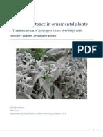 Disease Resistance In OrnamentalPlants