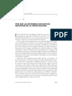 RMIE (2013). Por Qué Las Reformas Educativas Necesitan de La Investigación