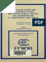Actualización de Decretos Leyes Dictados Por La Junta de Gobierno.