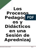 Los Procesos Pedagógicos  y Didácticos del área de Comunicación