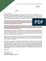 RESPUESTA AL SEÑOR SECRETARIO GENERAL DE LA PRESIDENCIA