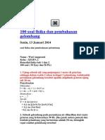 100 Soal Fisika Dan Pembahasan Gelombang