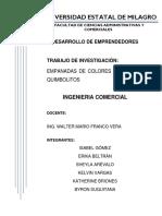 EMPANADAS DE COLORES Y SABORES- QUIMBOLITOS