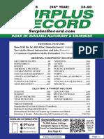 FEBRUARY 2018 Surplus Record Machinery & Equipment Directory