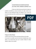 Historietas de Como Prevenir Los Accidentes Electricos