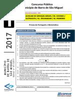 Prova - Fundamental Incompleto - Tipo 1 - B. S. Miguel 2017