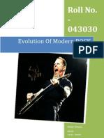 Evolution of Modern Rock Music