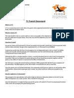 t1 Transit Document