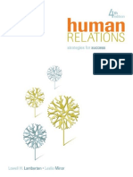 Human Relations Strategies for Success