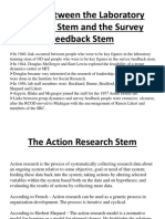 Links between the Laboratory Training Stem and the Survey Feedback Stem