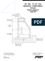 48 Dia to 24 Dia Manhole Component Stack MAG Detail 420 d1257