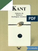 Kant Antologia - Immanuel Kant