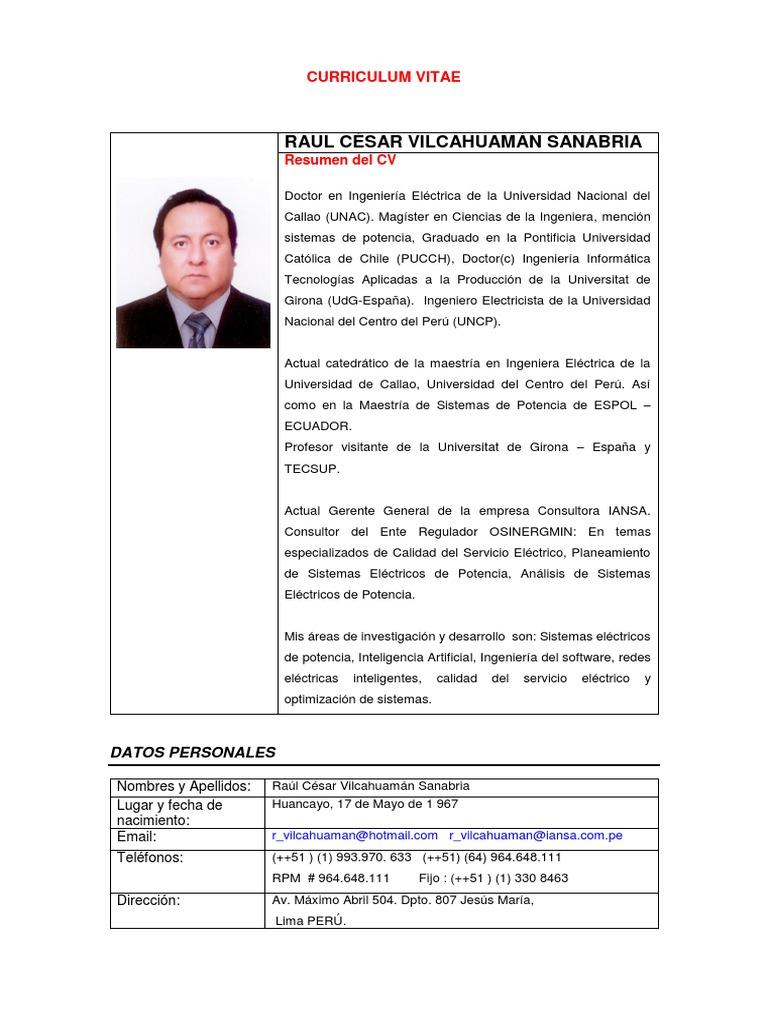 Vilcahuaman Sanabria Raul Cesar