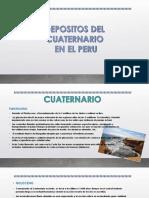 Cuaternario Depositos en El Peru Final