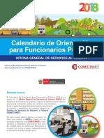 Calendario de Orientacion 2018