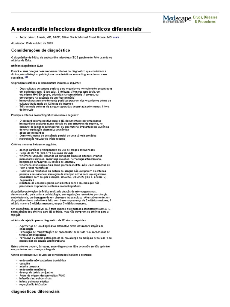 endocardite infecciosa etiologia diabetes
