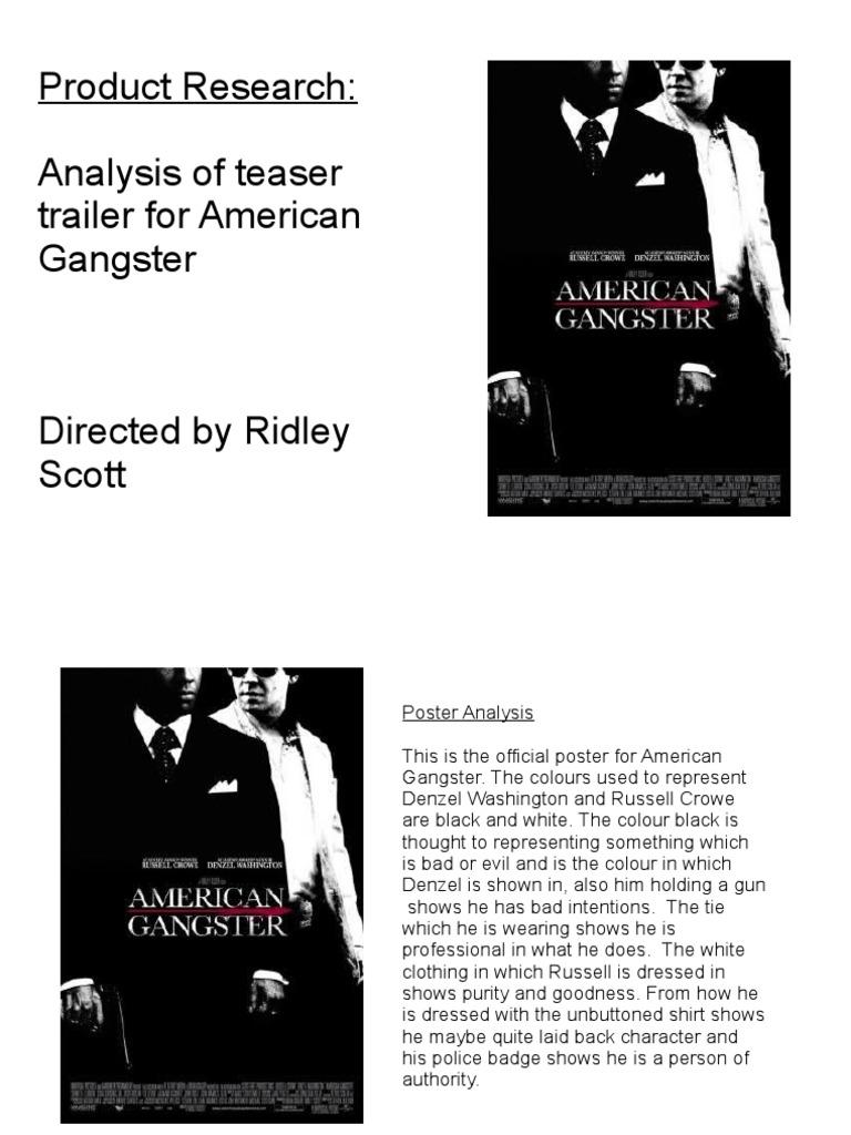 american gangster analysis